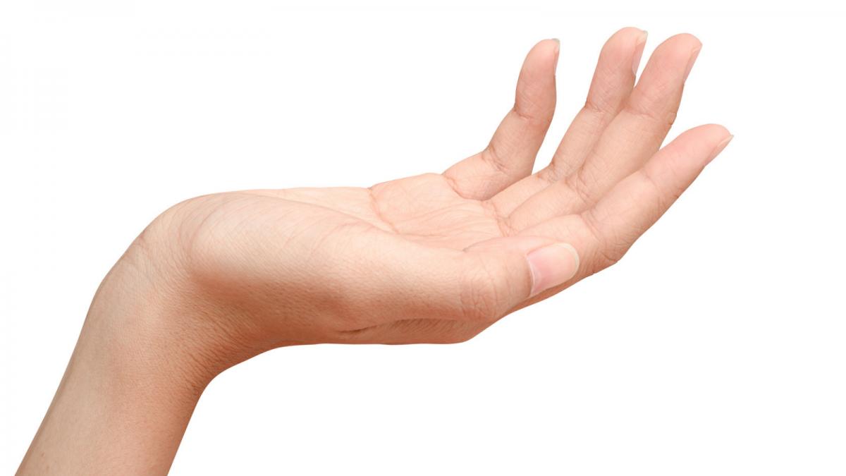 offene Frauenhand